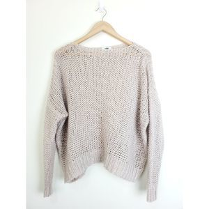 Old Navy open knit sweater top Sz M
